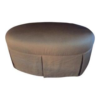 Oval Shaped Custom Upholstered Ottoman