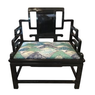 Asian Inspired Extra-Wide Chair