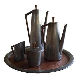 Mid-Century Royal Holland Daalderop Pewter Tea Set