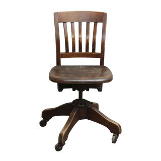Vintage Adjustable Swivel Chair by Milwaukee Chair Co.