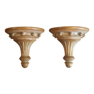 Carved Italian Wall Brackets - Pair