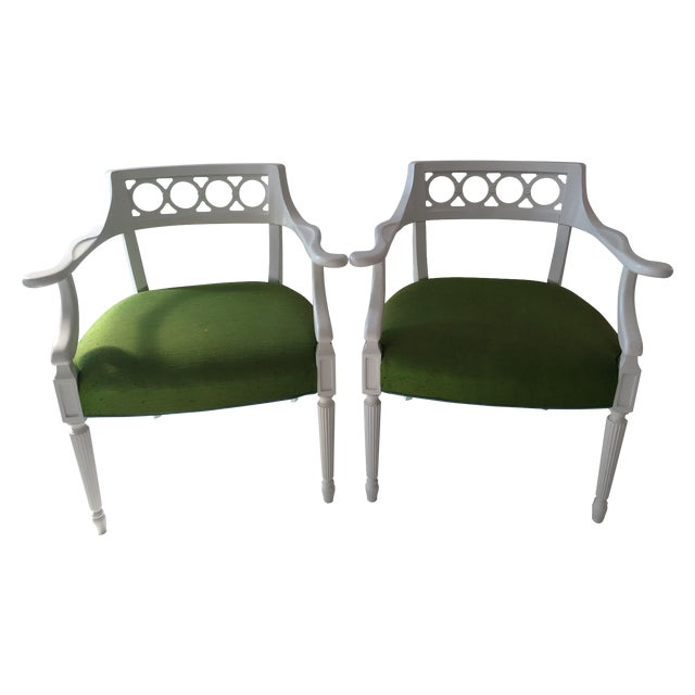 Palm Beach Hollywood Regency Chairs - Pair - Image 1 of 4