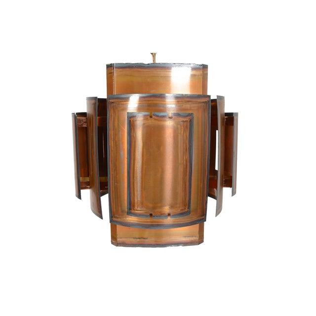 Danish Modern Brass Brutalist Pendant - Image 3 of 6