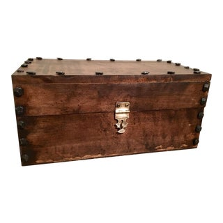 Rustic Reclaimed Maple Keepsake Box
