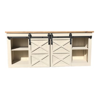 Farmhouse Grandy White Console