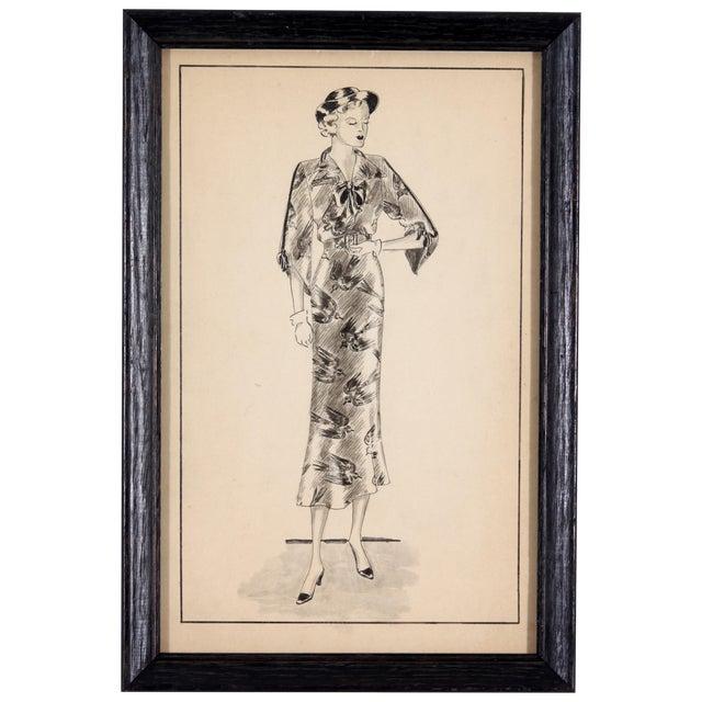 Image of Framed Fashion Sketch