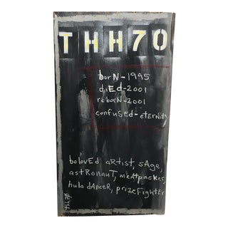 'Thh70' Contemporary Art on Board