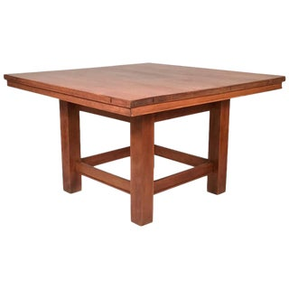 Arts and Crafts Period Prairie School Table attributed to Frank Lloyd Wright