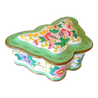 Chinese Enameled Butterfly Box