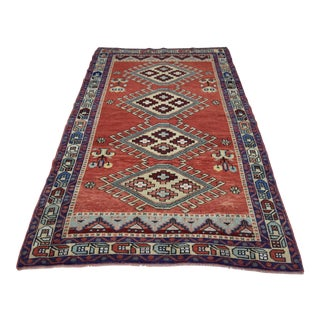 Vintage Oushak Wool Hand Knotted Rug - 4′6″ × 8′1″