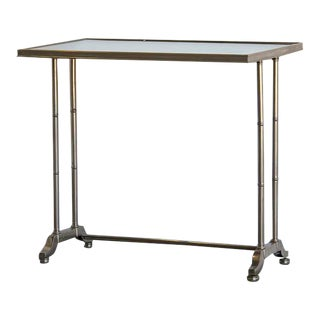 Modern Silvered Metal Side Table