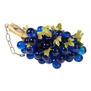Mid-Century Cobalt Blue Lucite Grape Cluster