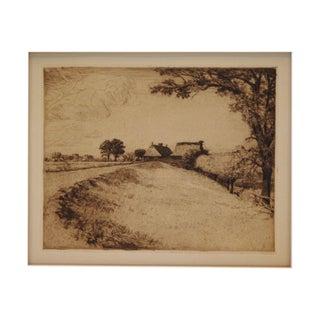 1910 Countryside Otto Fischer Original Etching