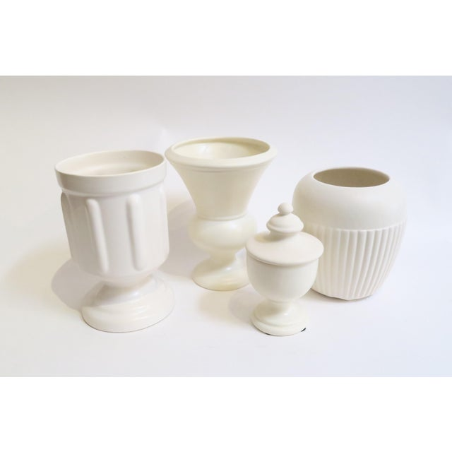White Ceramic Vessels- Set of 4 - Image 3 of 5