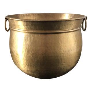 Vintage Solid Brass Planter