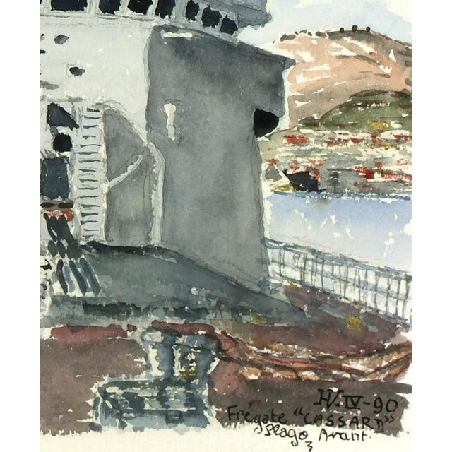 Watercolor Painting, Anti-Aircraft Frigate - Image 2 of 4