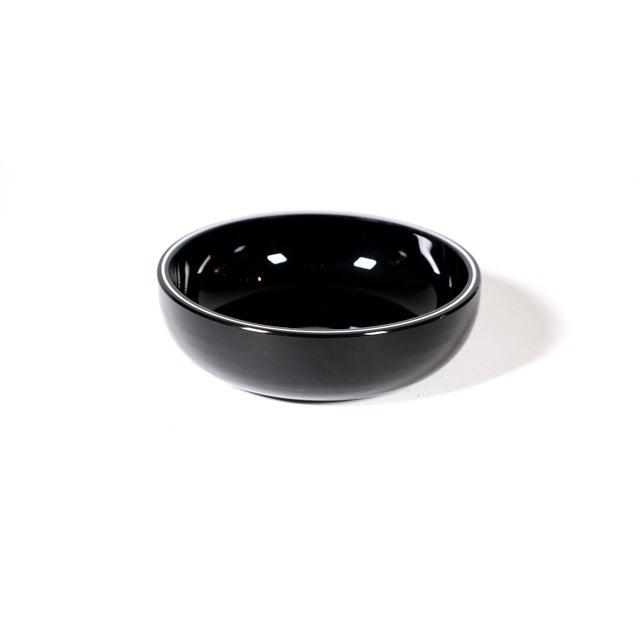 White Stripe Decorative Black Bowl - Image 2 of 3