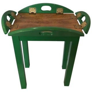 "A Petite Butler's Tray or Side Table Painted Ralph Lauren's ""Preppy Green Jacket"" Refurbished & Radiant!"