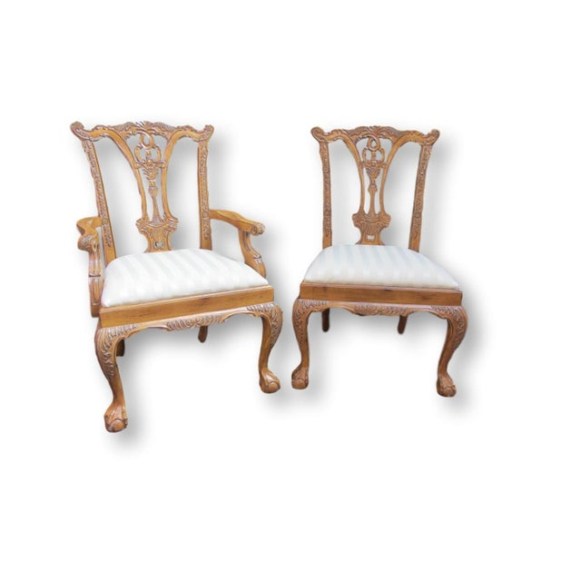 Toscano Chippendale Dining Chairs - Set of 8 - Image 3 of 9