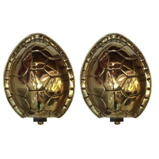 Arthur Court Tortoise Shell Sconces - Pair