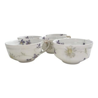 Haviland & Co. Limoges Violets Cups -Set of 5