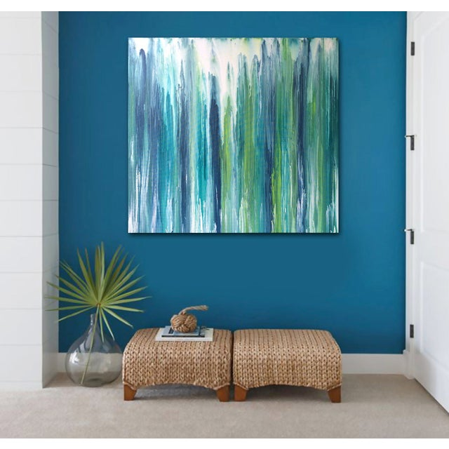 'Waterfall' Original Abstract Painting by Linnea Heide - Image 2 of 8
