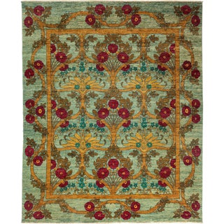 "Arts & Crafts Hand Knotted Area Rug - 8' 0"" X 9' 8"""