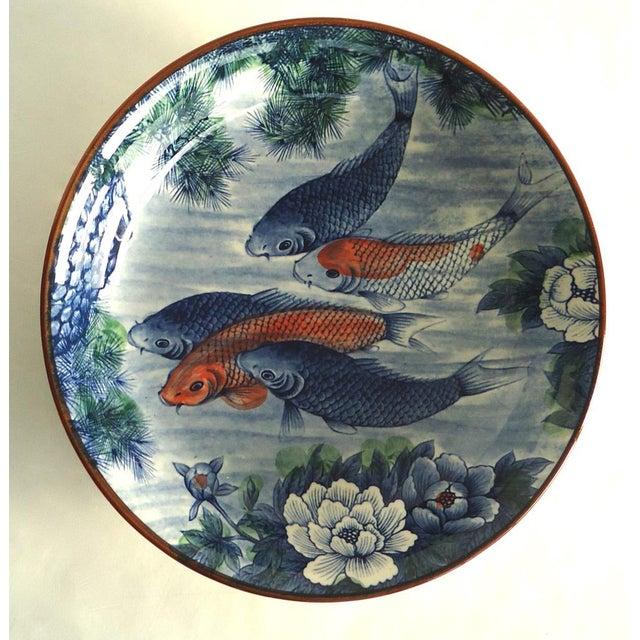 Japanese serving bowl with koi fish chairish for Koi fish bowl