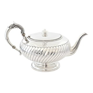 Sterling Silver Monogram Tea Pot