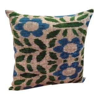 Velvet Ikat Pillow