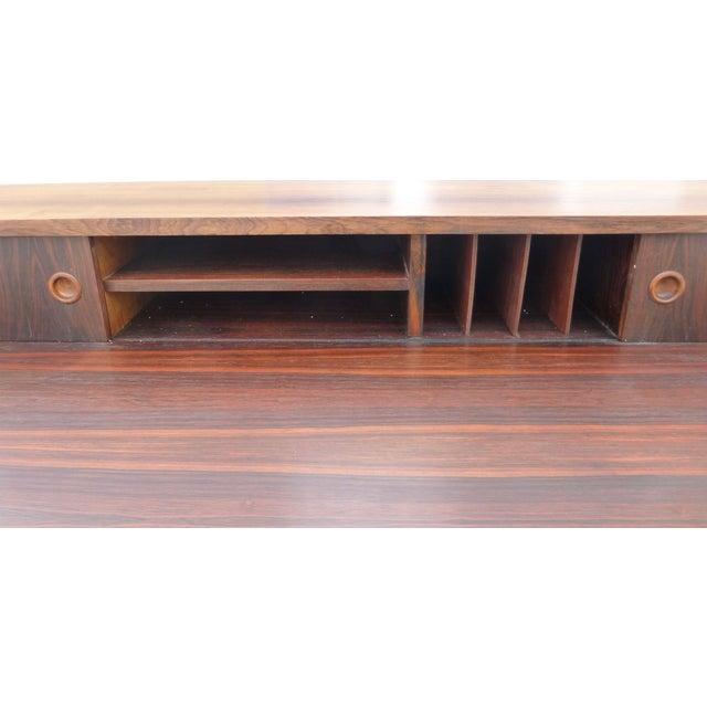 Midcentury Danish Modern Rosewood Desk - Image 6 of 11