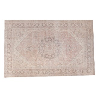 "Distressed Oushak Carpet - 6'2"" X 9'10"""