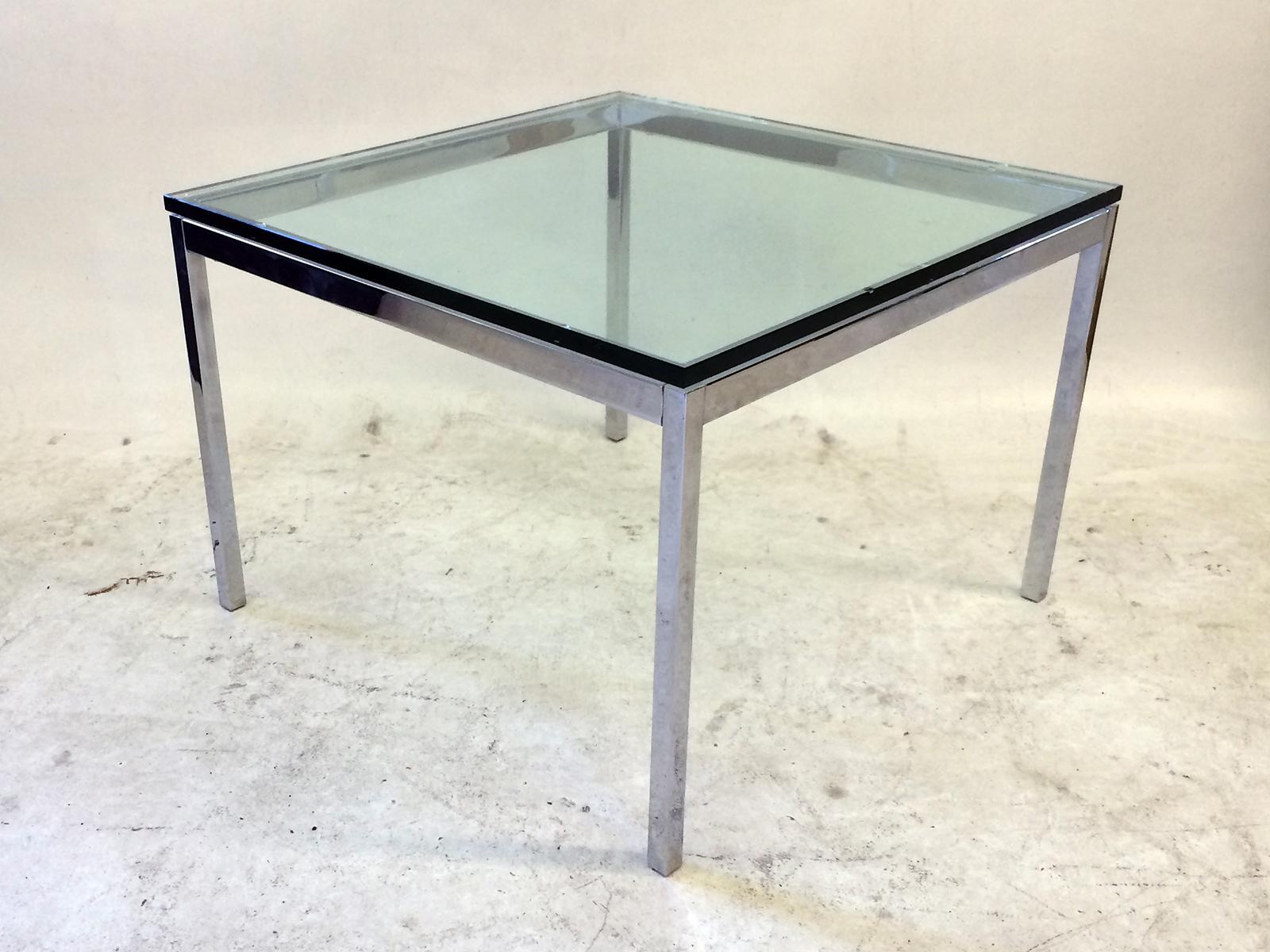Florence Knoll Glass Top U0026 Chrome Side Table   Image 3 ...