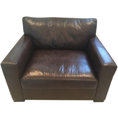 Image of Crate & Barrel Axis II Leather Chair