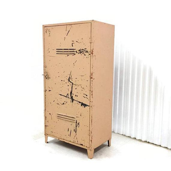 Vintage Industrial Steel Storage Cabinet - Image 2 of 6