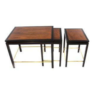 SET OF THREE NESTING TABLES BY EDWARD WORMLEY FOR DUNBAR, CIRCA 1950S