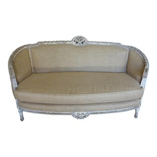 French Louis XVI Style Carved Settee