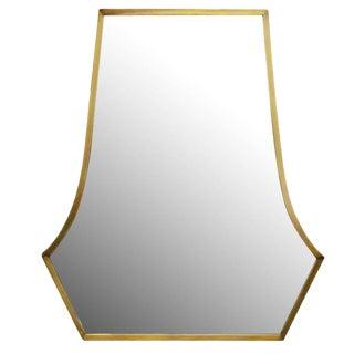 Large Art Deco Styled High Style Bronze Vanity Mirror