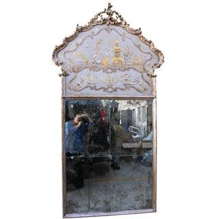 Italian Chinoiserie Painted Mirrors - A Pair