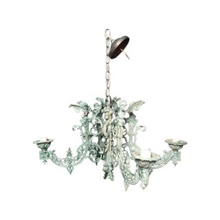 Handmade Green Deco Wall Sconce Chandelier