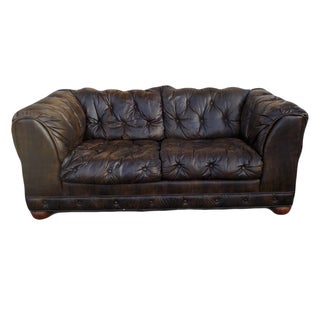 Leather Tufted Chesterfield Sofa by Plush Crush
