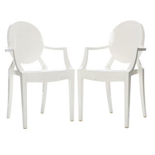 Kartell Louis White Ghost Chairs - A Pair