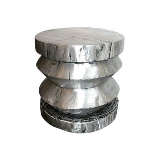 Cast Aluminum Stool or End Table