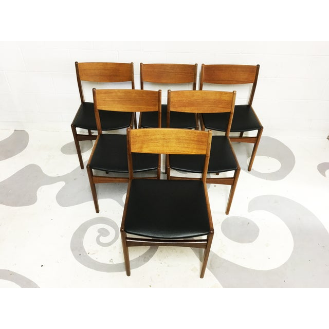 Mid-Century Poul Volther Teak Chairs - Set of 6 - Image 4 of 6