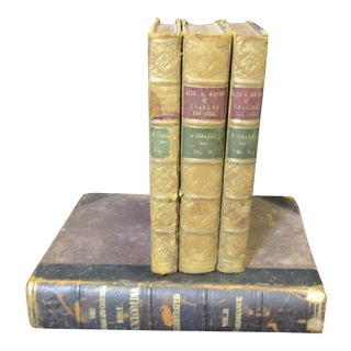Antique Leather Bound Books - Set of 4