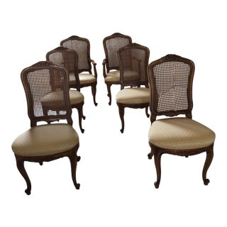 Henredon French Provincial Cane Back Dining Chairs - 6