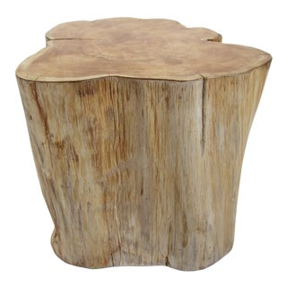 Organic Teak Stump Stool