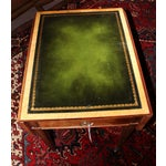Image of Pembrook Side Table with Green Leather