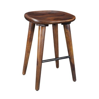 Solid Sheesham Wood Counter Height Stool