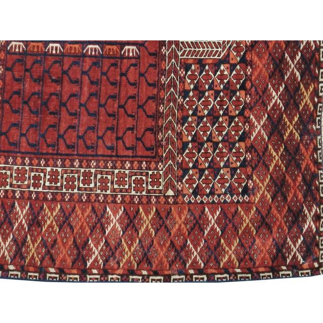 Vintage Turkoman Tekke Rug- 3′9″ × 4′9″ - Image 2 of 3